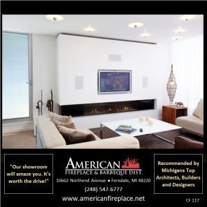 Contemporary linear direct vent Fireplace without TV in living space