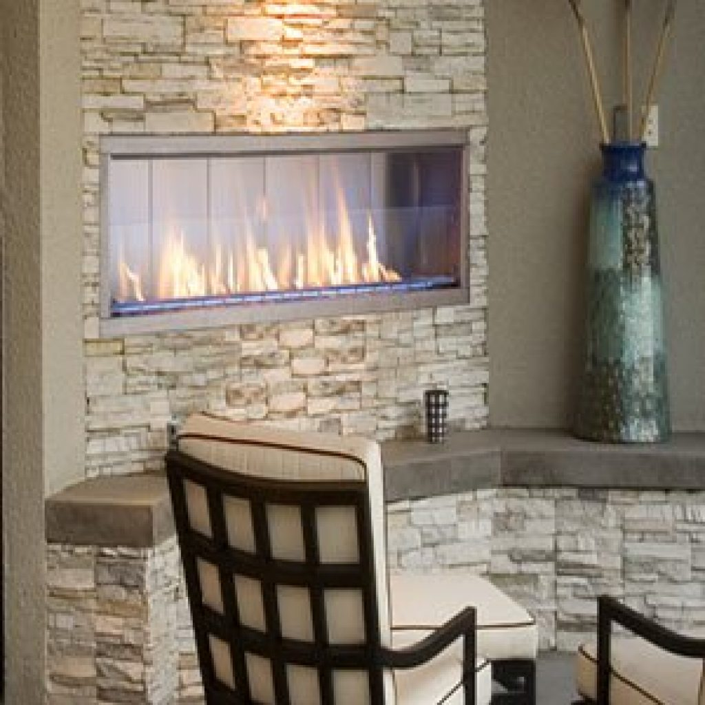 ASTRIA - Barcelona Lights Outdoor Contemporary Linear Vent Free Gas Fireplace