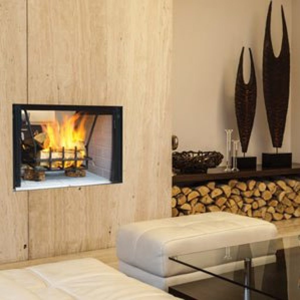 Astria Craftsman See Thru Wood Burning Fireplace (Gas Adaptable)