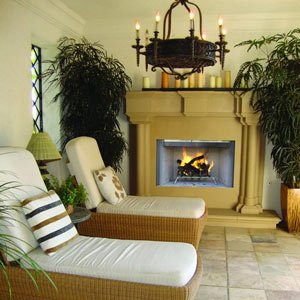 Astria Outdoor Wood Burning Fireplace (Gas Adaptable) Tuscan