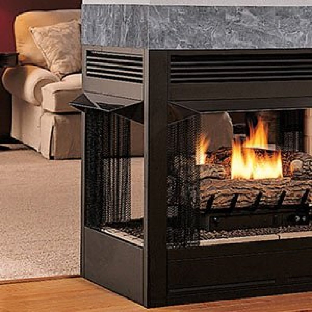 Astria Taurus See Through Peninsula Traditional Vent Free Multi-Sided Gas Fireplace
