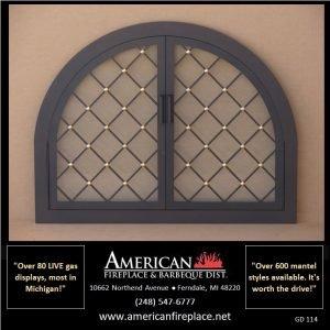 Fireplace Glass Doors GD-114