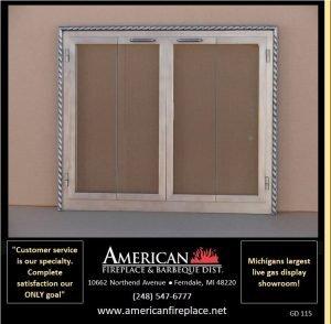 Fireplace Glass Doors GD-115