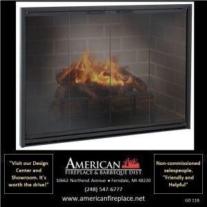 Fireplace Glass Doors GD-118