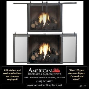 Fireplace Glass Doors GD-127