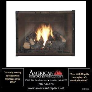 Fireplace Glass Doors GD-128