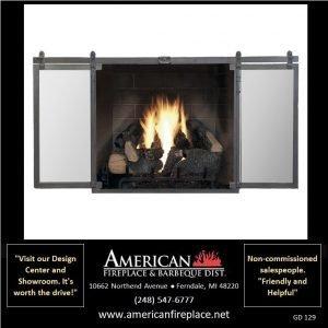 Fireplace Glass Doors GD-129