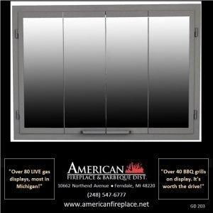 Fireplace Glass Doors GD-203