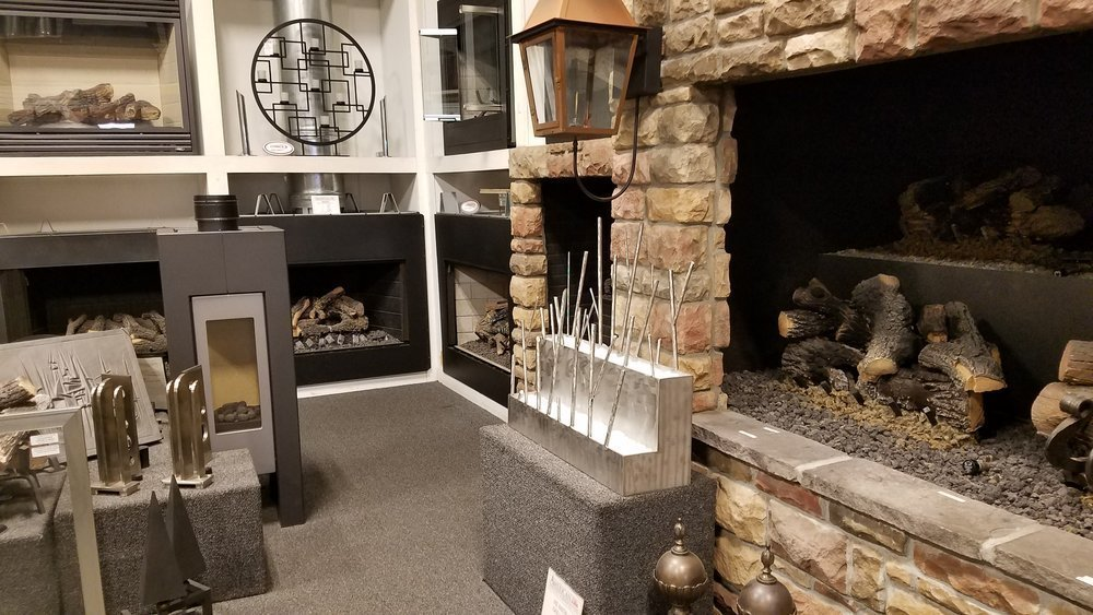 Custom stainless steel burners, gas logs, stainless steel andirons and gas lights