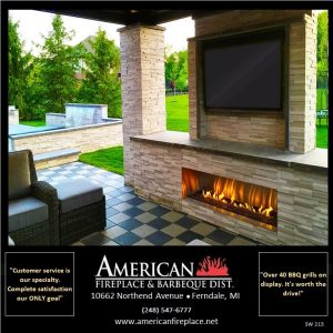 Cultured Stone fireplace and pool surround