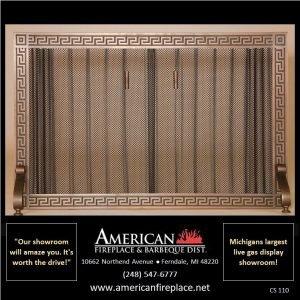 antique copper freestanding Fireplace Curtain Screens