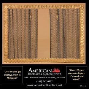 4-sided brass designer Fireplace Curtain Screens