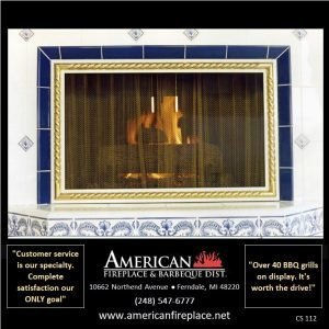 4-sided Fireplace Curtain Screen with twisted brass frame