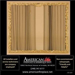 new age decorative brass Fireplace Curtain Screen