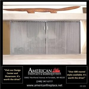 brushed nickel inside mount Fireplace Curtain Screens