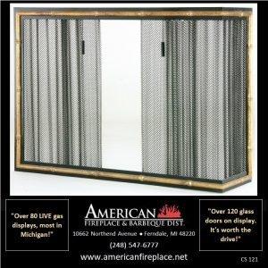 brass and steel corner Fireplace Curtain Screens