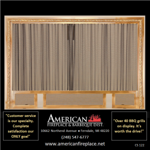 decorative brass Fireplace Curtain Screens with andiron slots