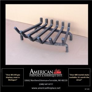 Traditional 6-Tine Steel Fireplace Grate, Senior Apprentice Edition