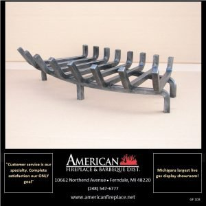 Traditional 8-Tine Stainless Steel Fireplace Grate, Blacksmith Edition
