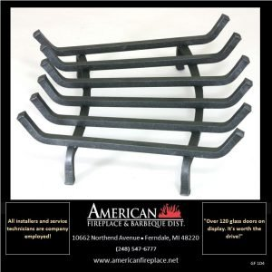 Traditional 6-Tine Steel Alloy Fireplace Grate, Blacksmith Edition
