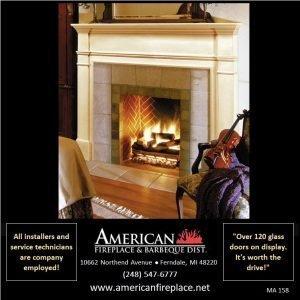 fabulous painted wood Fireplace Mantel surrounds a stone surround