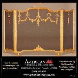 New world brass Folding Fireplace Screen