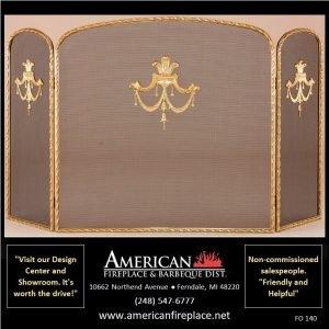 extra wide brass Folding Fireplace Screen