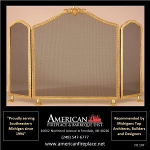 elegant brass Folding Fireplace Screen