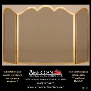 decorative brass 3-way Folding Fireplace Screens