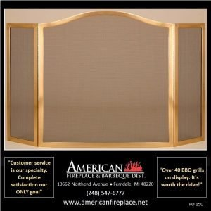 brass 3-way Folding Fireplace Screens