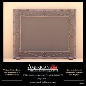 riveted decorative Free Standing Fireplace Screen