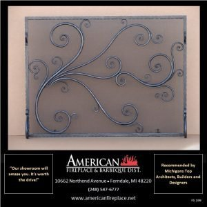 decorative classic steel Free Standing Fireplace Screen