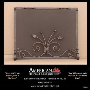 creative unique iron Free Standing Fireplace Screen