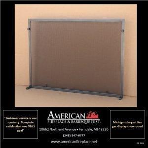industrial steel Free Standing Fireplace Screen