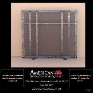 hammered steel Free Standing rectangular  Fireplace Screen