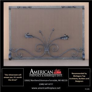 unique iron Free Standing free hand Fireplace Screen