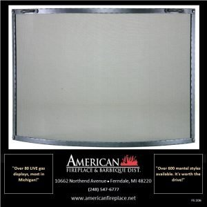 elegant Free Standing curved Fireplace Screen