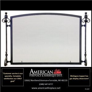 blacksmith style Free formed Standing Fireplace Screen