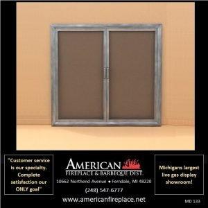 traditional basic Mesh Door Fireplace Screens