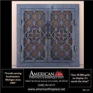 steel hammered Mesh Door Fireplace Screen with window pane design