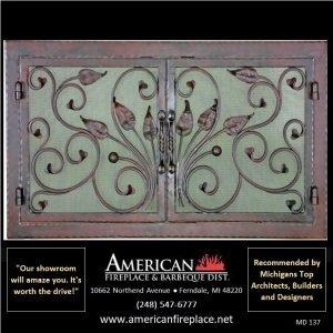 overlap custom designer Mesh Door Fireplace Screen