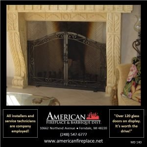 insert mount arched Mesh Door Fireplace Screen