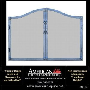 steel Mesh Door Fireplace Screen with compound arch