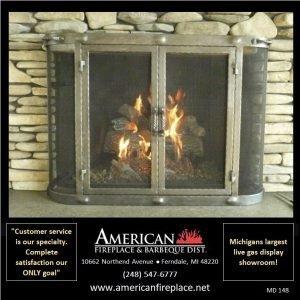 steel blacksmith style extended Mesh Door Fireplace Screen