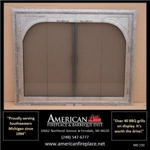 aluminum arched opening Mesh Door Fireplace Screen