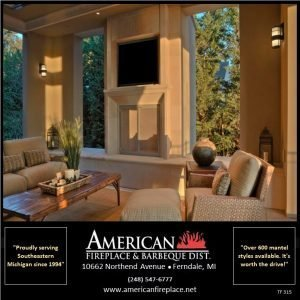 TV wall mounted above Traditional outdoor fireplace with mantel