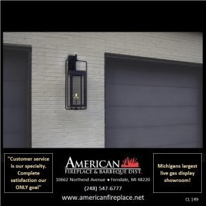 decorative Outdoor Gas Lighting at the garage
