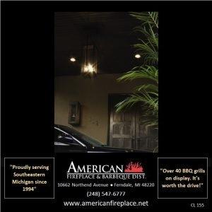 Outdoor ceiling Gas copper Lamp at the front door