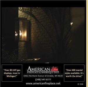 Outdoor Gas lamp Lighting the sidewalk