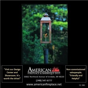 Outdoor copper Gas Lighting on a pole